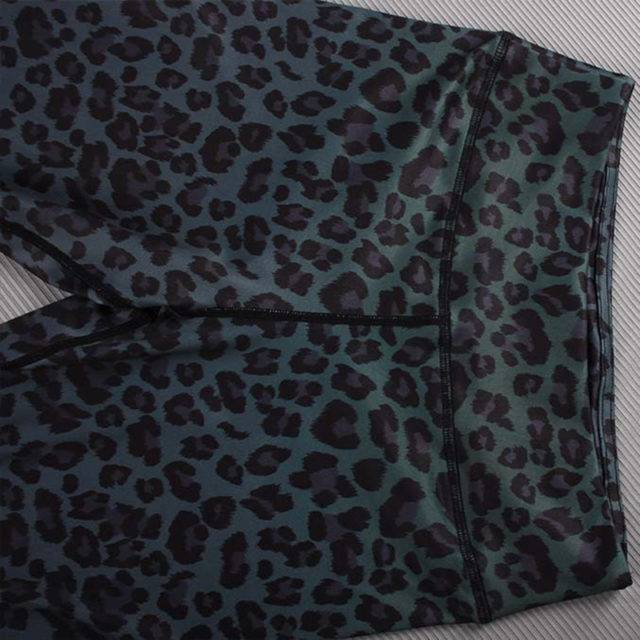 Nueva moda Leggings con estampado de leopardo Fitness cintura alta entrenamiento Leggings góticos para mujeres Hip Push Up gradiente Color Sexy Leggings